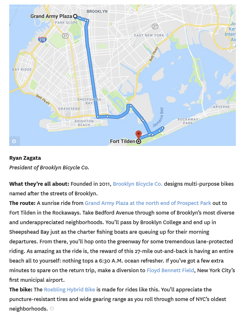 Ryan Zagata of Brooklyn Bicycle Co. Bike Tour Interview