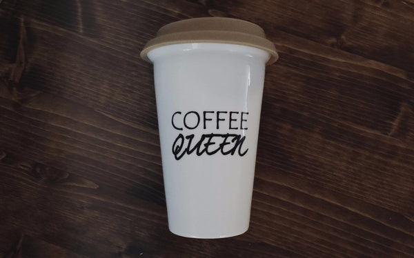 """Coffee Queen"" Travel Mug - Limited Stock"