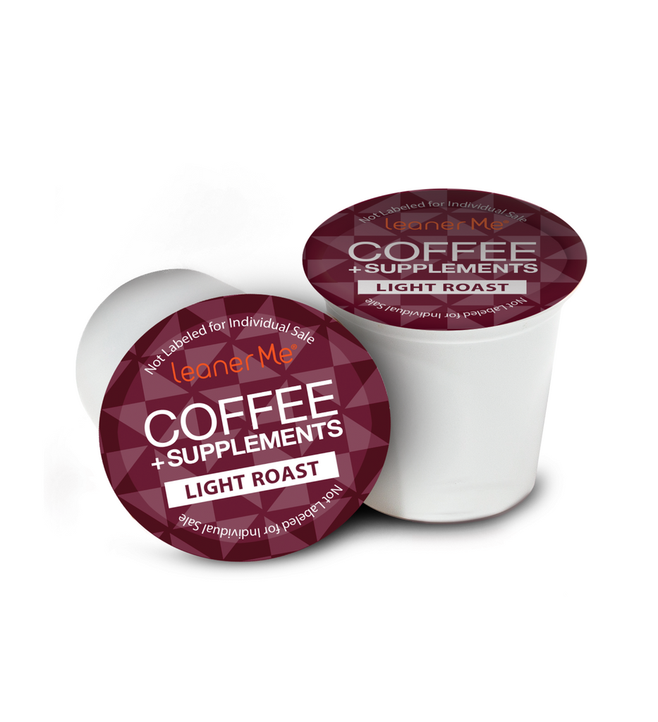 LeanerMe Coffee + Supplements Pods 80 Ct (Light Roast)