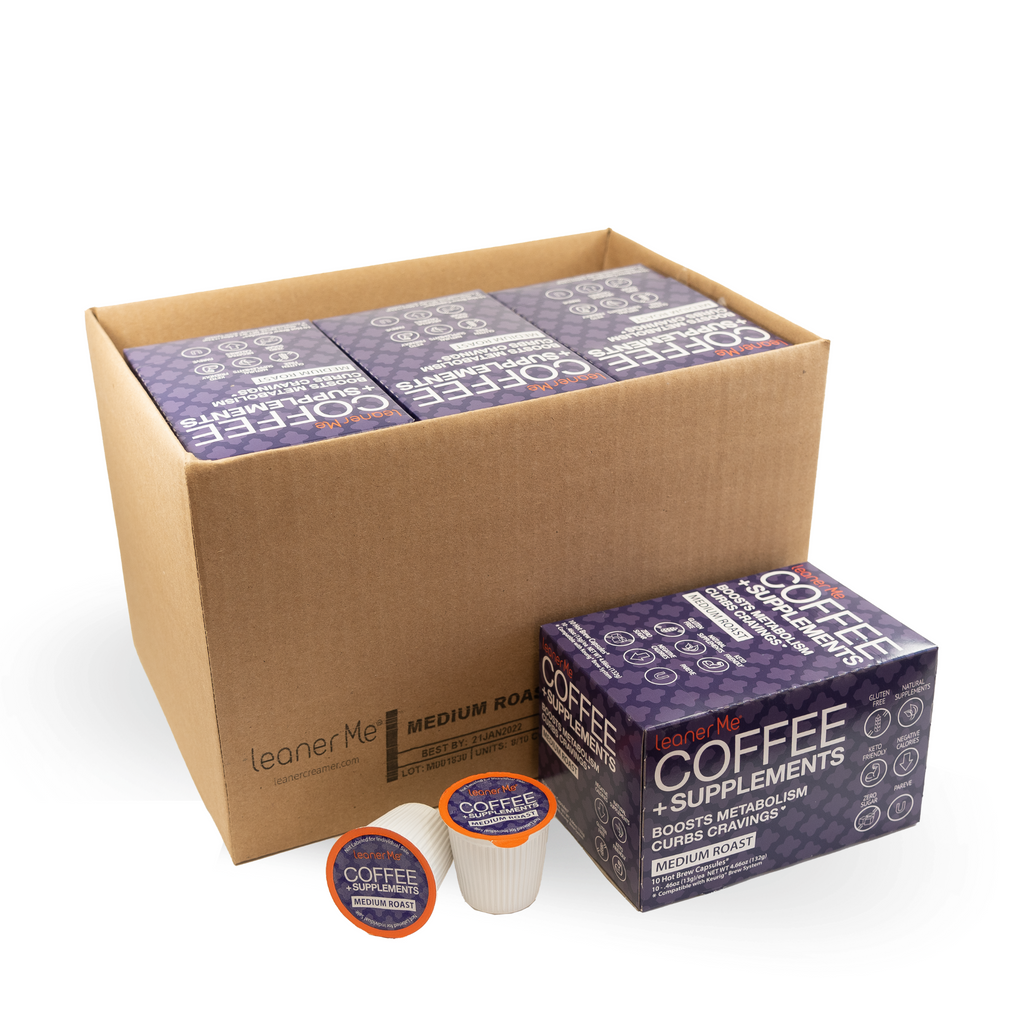 LeanerMe Coffee + Supplements Pods 80 Ct (Medium Roast)