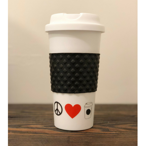 "Leaner Creamer - ""Peace, Love + Coffee"" Limited Edition Tumbler"