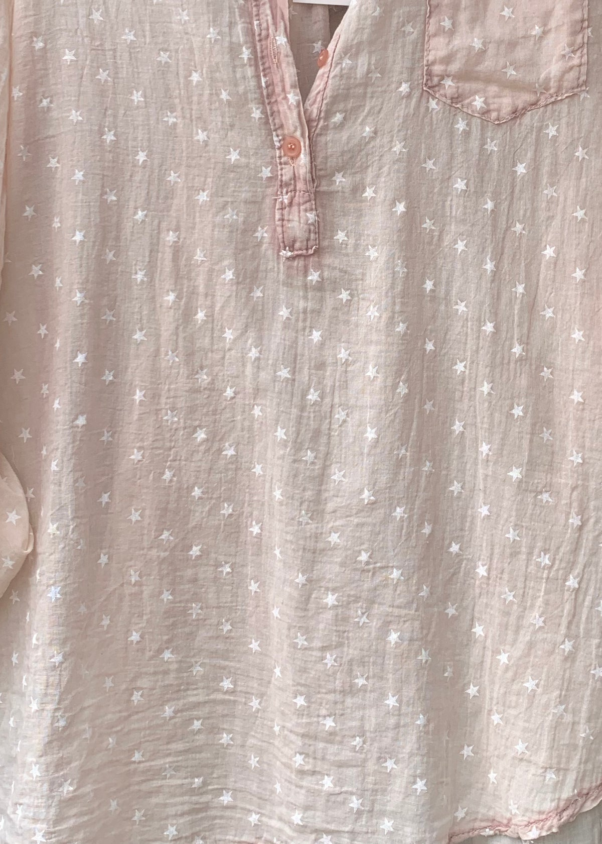 Stars In Love Crepe Shirt