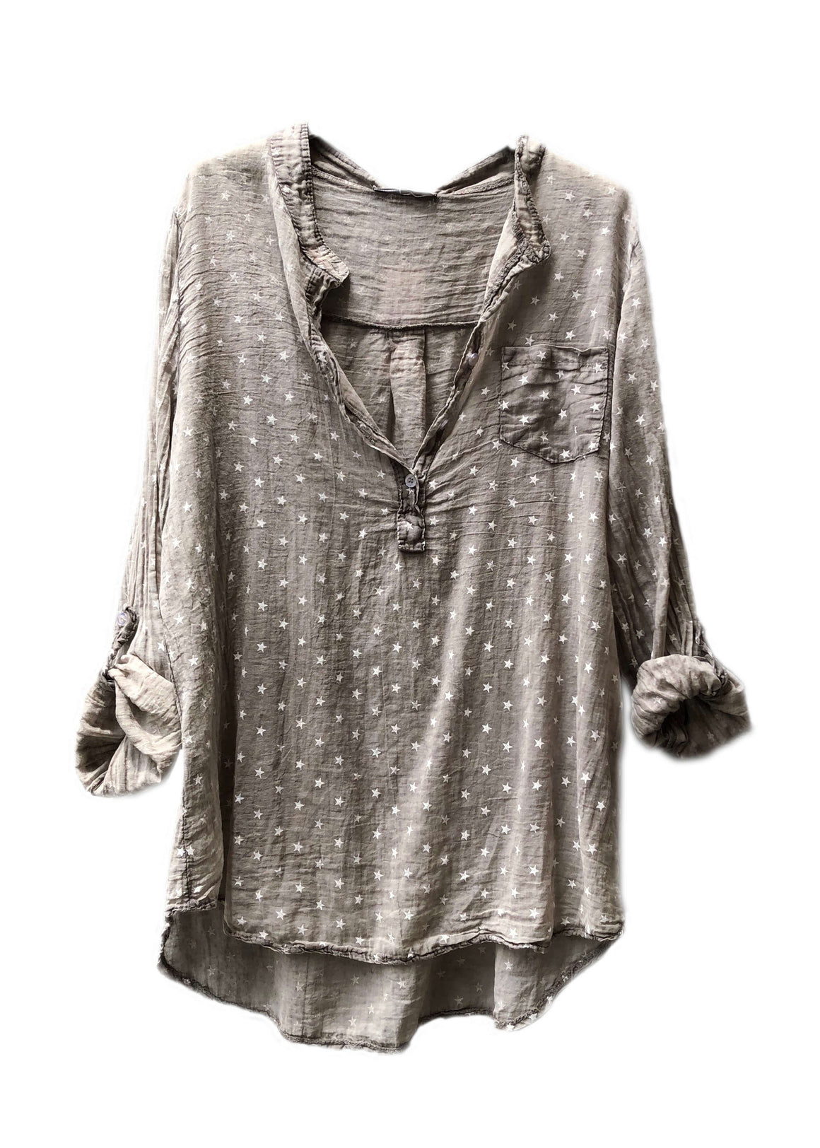 Shirts - Stars In Love Crepe Shirt