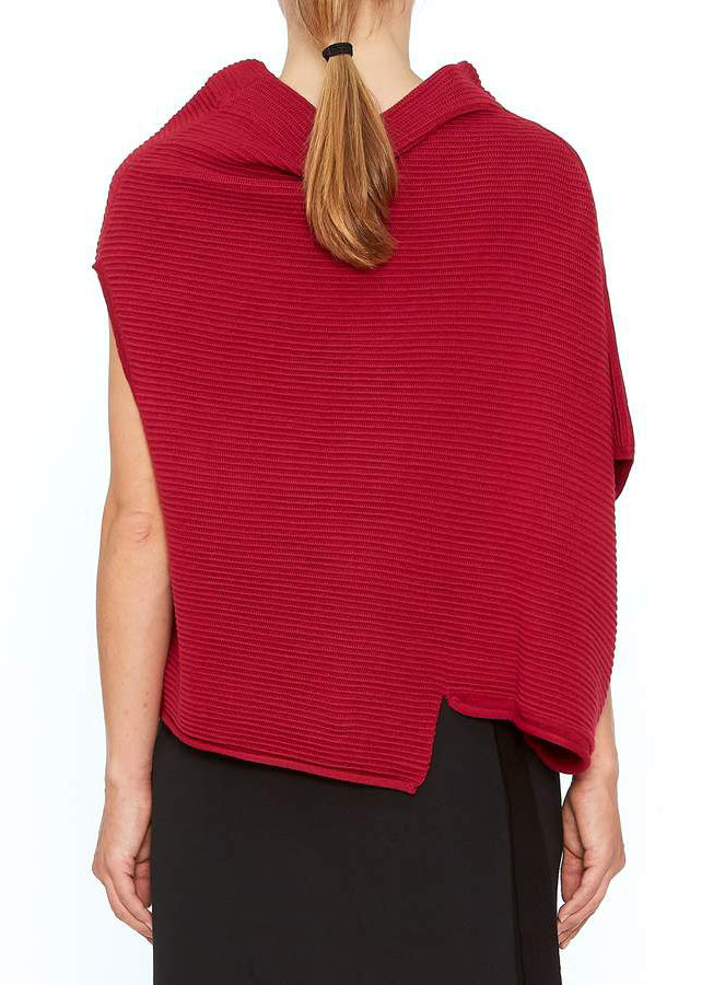Red Boxy Knitted Top