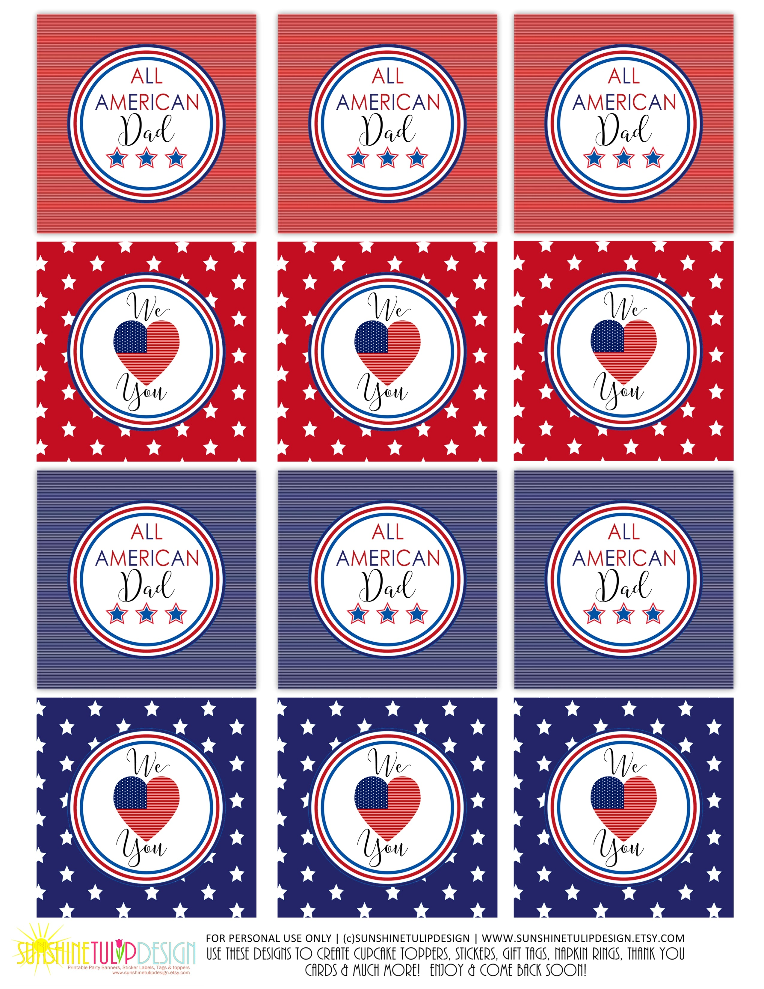 graphic regarding Printable Decorations identified as Printable Fathers Working day Banner Decorations, Printable All American Father Bash Package deal, Printable Fathers Working day BBQ Decor SUNSHINETULIPDESIGN