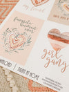 Printable Galentines Collection, Galentines Valentine Cards, Mini Banner, Toppers & Tags by SUNSHINETULIPDESIGN