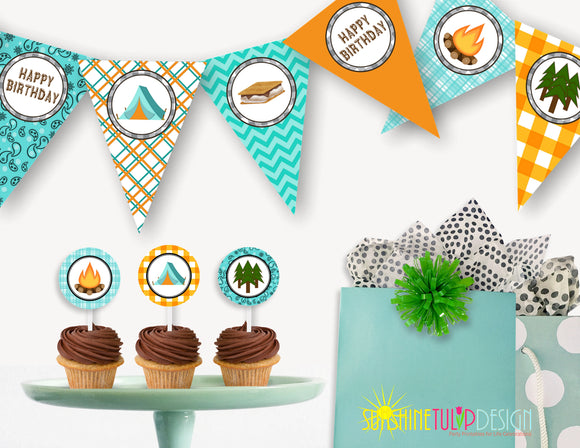 Printable Camping Birthday Party Package