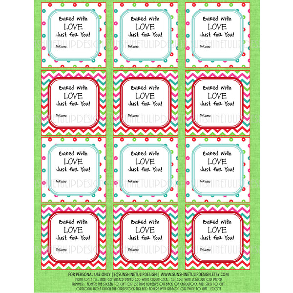 Printable Christmas Food Labels Baked With Love Christmas