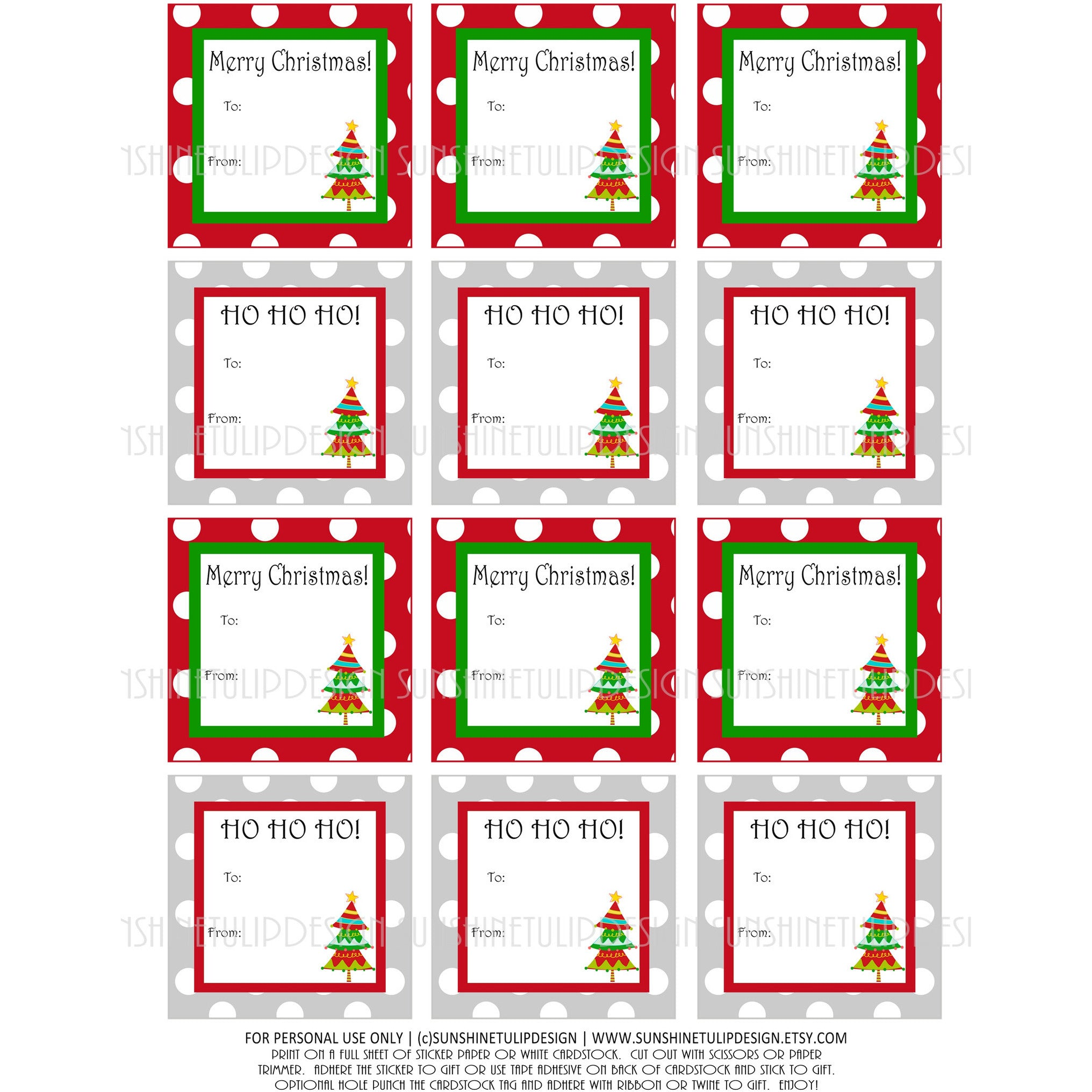 graphic about Christmas Labels Printable called Printable Xmas Present Tags, Xmas Labels, Pink and Environmentally friendly Xmas Tags