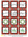Printable Christmas Plaid Tartan Collection, Eggnog Bar Party Package by Sunshinetulipdesign