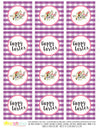 Printable Buffalo Plaid Easter Cupcake Toppers, by SUNSHINETULIPDESIGN