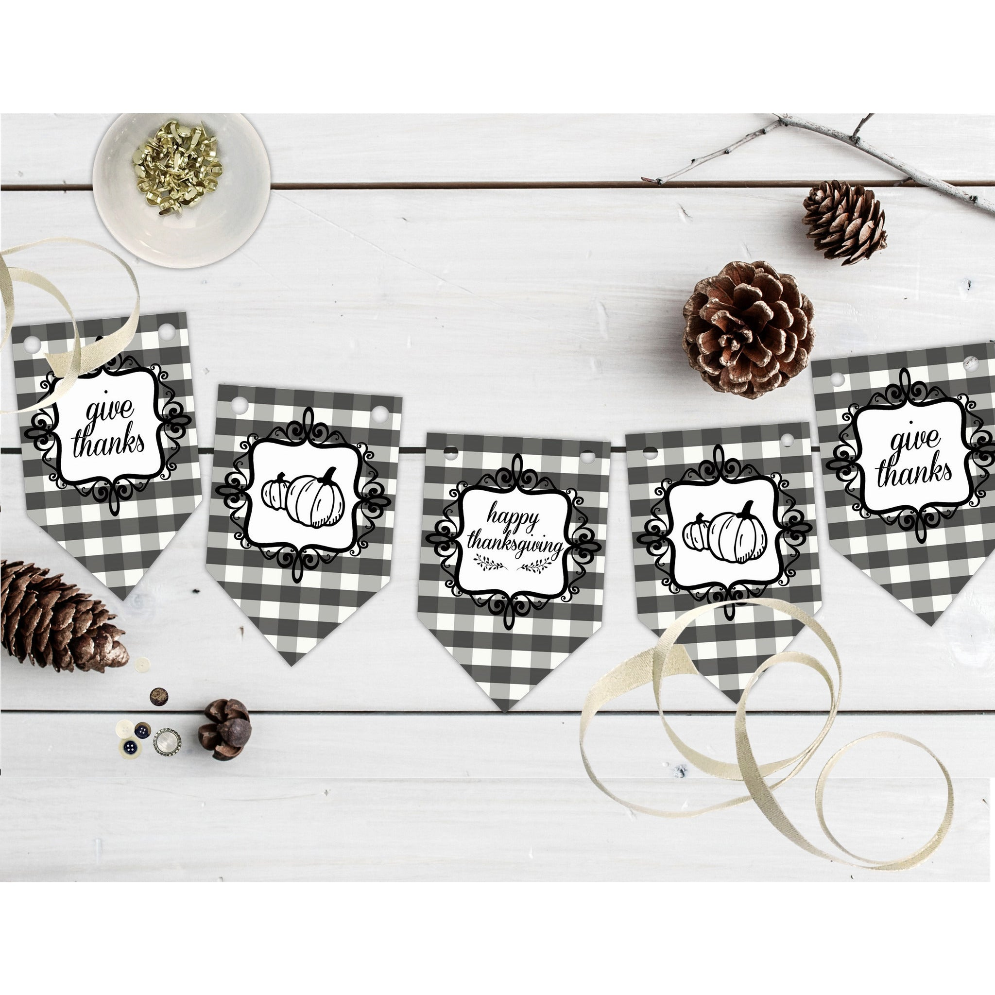 picture about Thanksgiving Printable Decorations referred to as Printable Deliver Due Range Decor, Printable Buffalo Plaid Thanksgiving Decorations, Foodstuff Tent Playing cards, Wall Decor