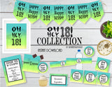 Printable 18th Birthday Party Collection, Printable Ombre Party Decorations by SUNSHINETULIPDESIGN