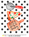 Printable Pizza Party Decorations, Instant Download Polka Dot Pizza Party Package by SUNSHINETULIPDESIGN