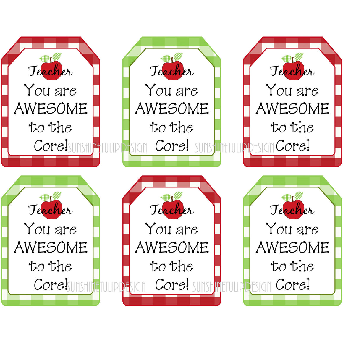 You are Awesome Printable Teacher Tags - Sunshinetulipdesign