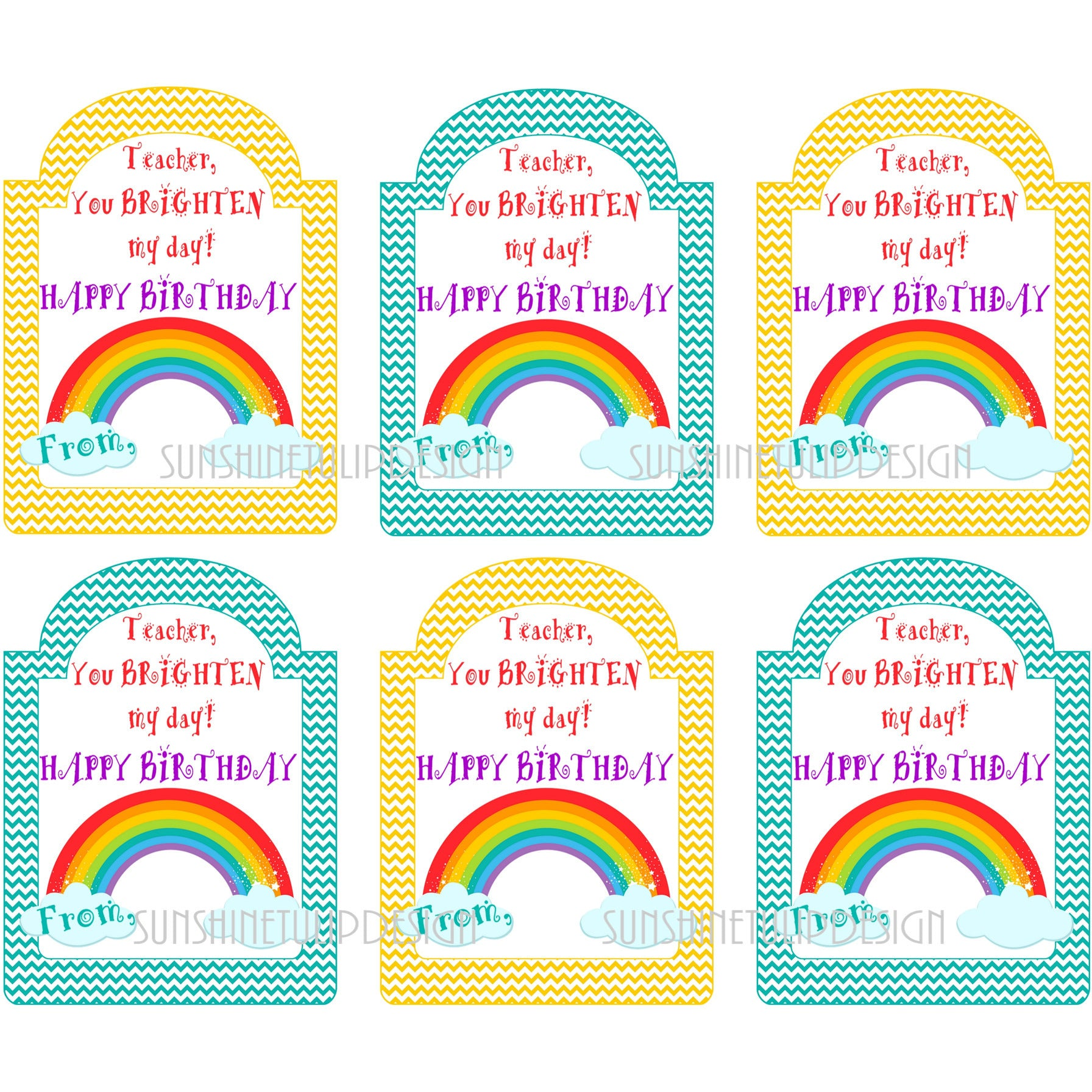 graphic relating to Happy Birthday Tag Printable referred to as Printable Trainer Birthday Reward Tags, Joyful Birthday Printable Trainer Tags as a result of SUNSHINETULIPDESIGN