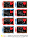 Printable Welcome Back to School Buffalo Plaid Teacher Tags, 1st Day of School Gift Tags by SUNSHINETULIPDESIGN