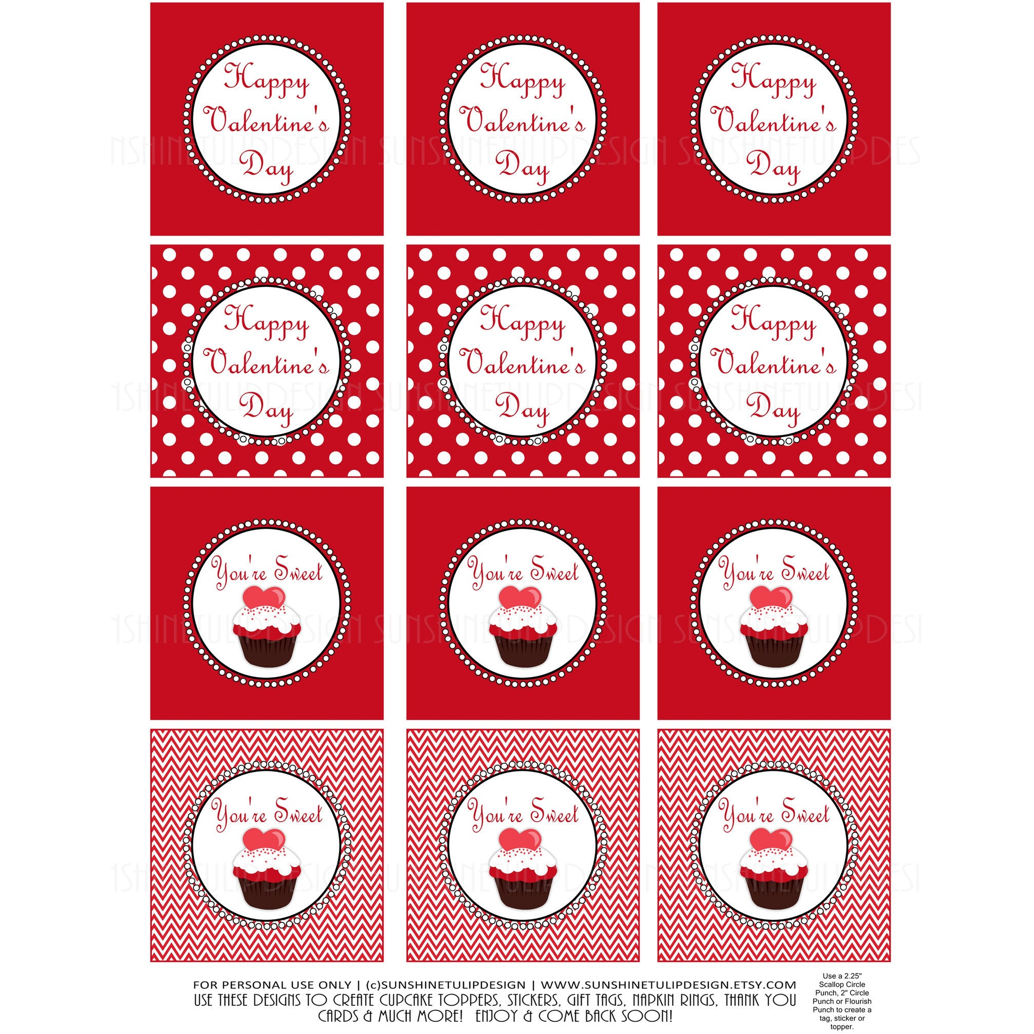Printable Valentines Day Gift Tags You Re Sweet Valentines Day Gift