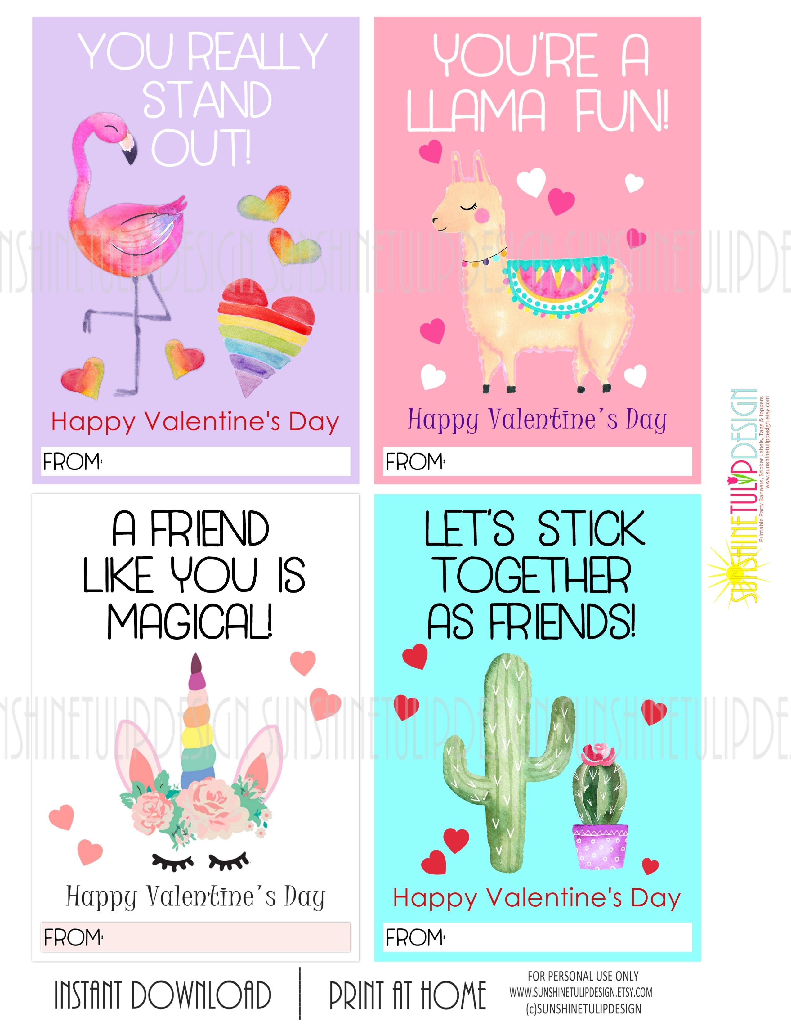 image relating to Valentine Labels Printable called Printable Valentines Working day Playing cards, Young children Valentines Playing cards, Quick Down load Pun Valentines Playing cards via SUNSHINETULIPDESIGN