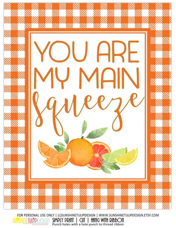 Printable Citrus Party Decorations, Printable Bridal Shower Decorations, Printable Wedding Anniversary Decorations by SUNSHINETULIPDESIGN