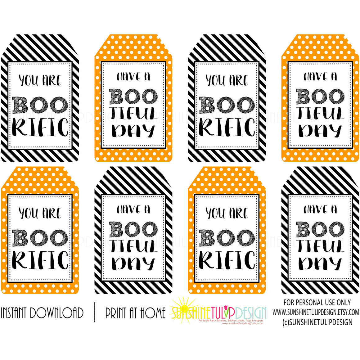 picture relating to Free Printable Halloween Gift Tags referred to as Printable Halloween Present Tags, Halloween BOOrific BOOtiful Working day Choose Reward Tags by means of Sunshinetulipdesign