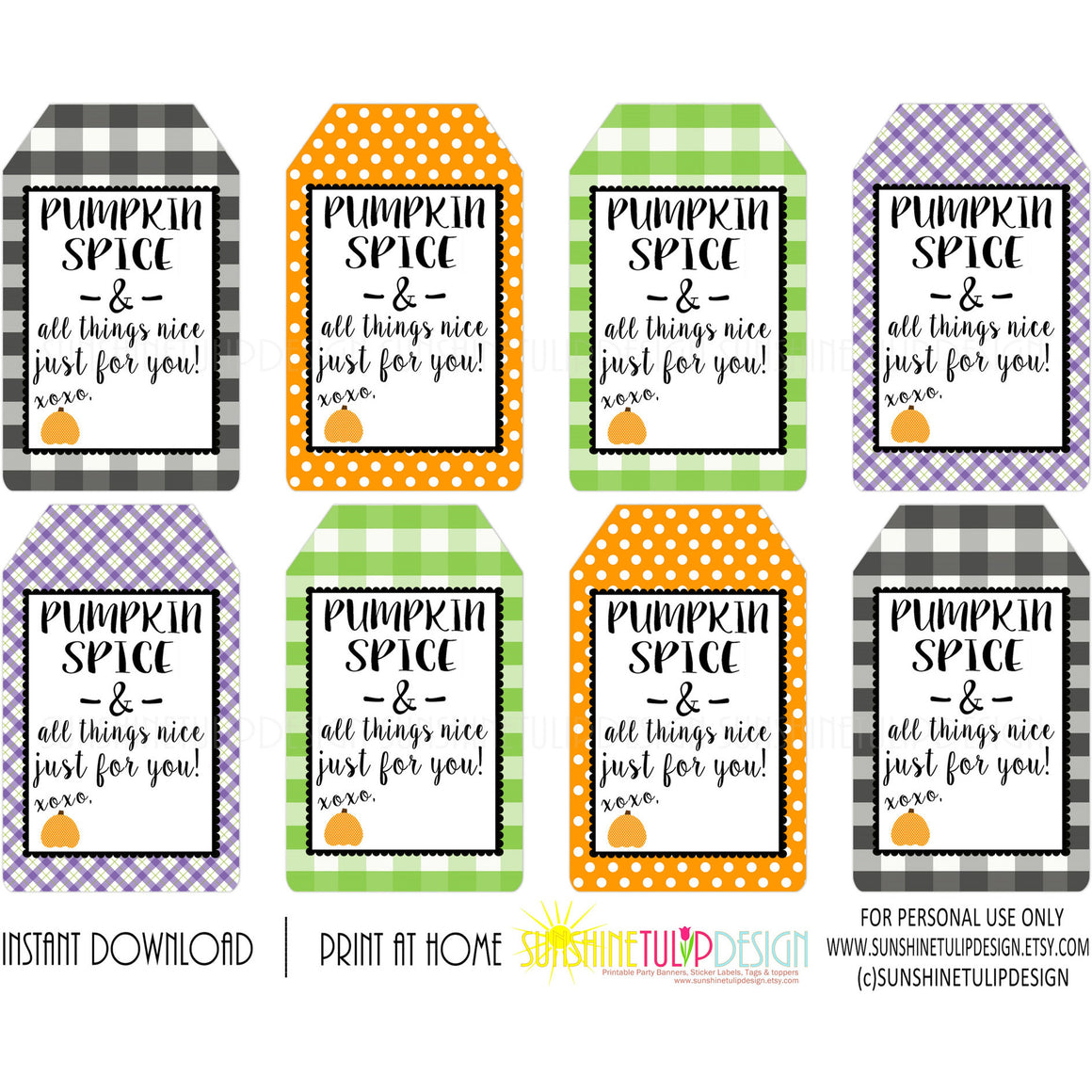 photo relating to Free Printable Teacher Appreciation Tags identified as Pumpkin Spice Just about anything Good Tags, Printable Instructor Appreciation HALLOWEEN tags, Pumpkin Spice Present Tags by way of SUNSHINETULIPDESIGN