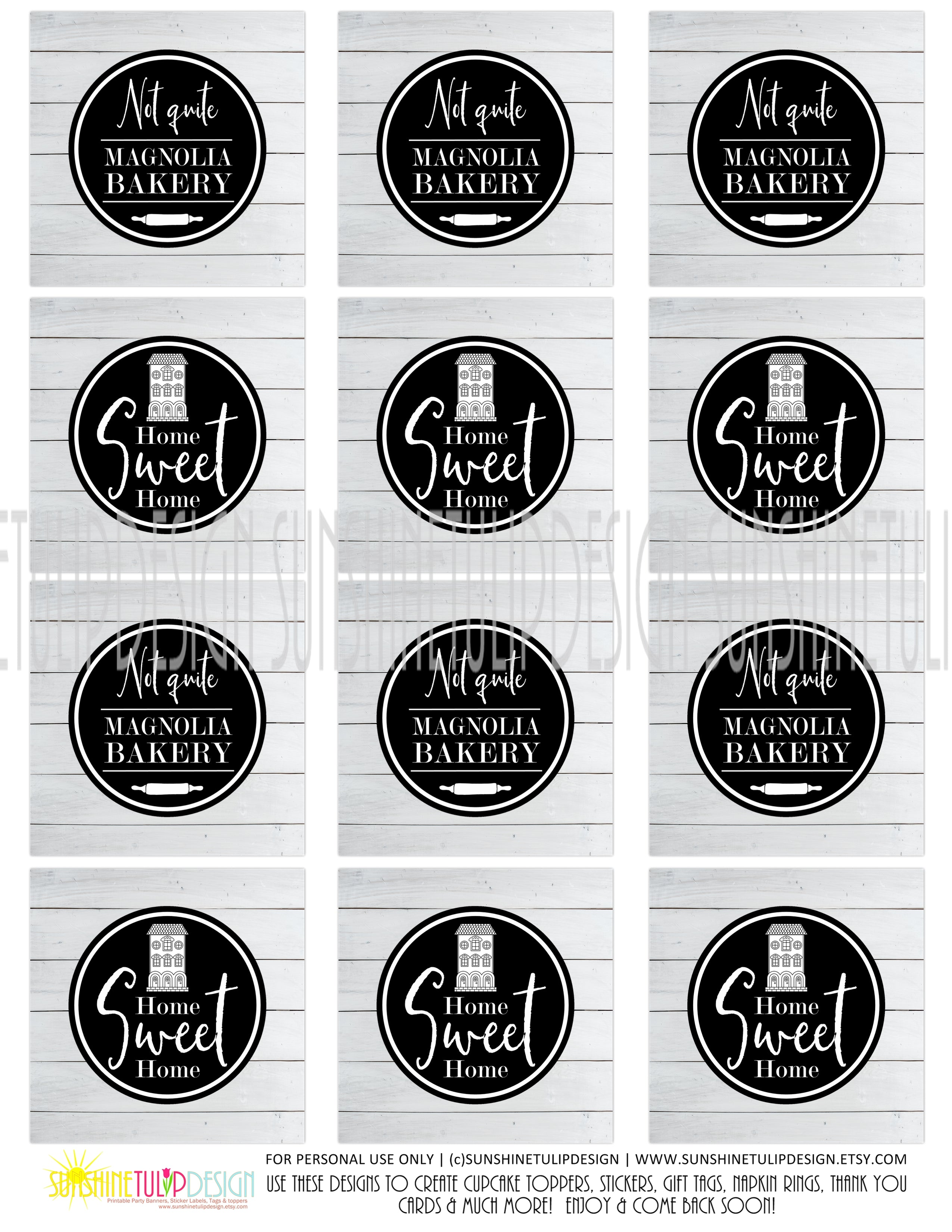 image relating to Tags Printable named Printable Farmhouse Bash Reward Tags, Printable Shiplap Farmhouse Cupcake Toppers, Dwelling Adorable Household Present Tags as a result of SUNSHINETULIPDESIGN