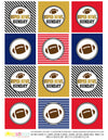 Printable Super Bowl Cupcake Toppers Gift Tags, Football Tailgate Gift Tags, Super Bowl Sunday Tags by SUNSHINETULIPDESIGN - Sunshinetulipdesign - 2