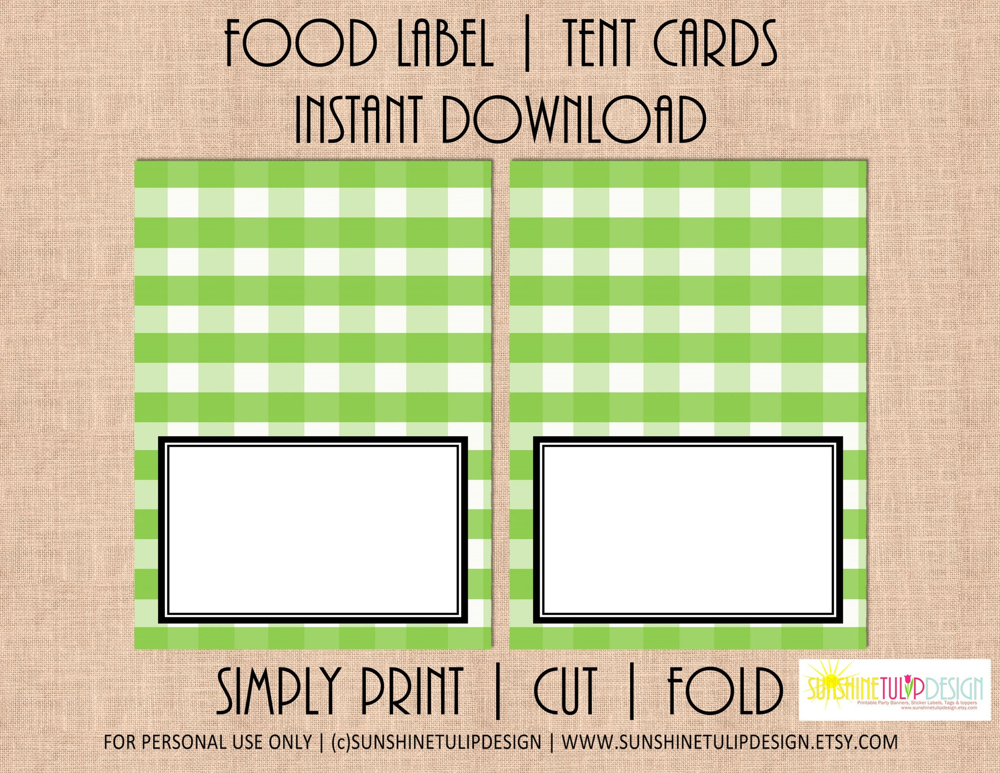 photograph relating to Printable Tent Cards referred to as Printable Food items Label Tent Playing cards Apple Inexperienced Buffalo Plaid Xmas, Trip All Bash as a result of SUNSHINETULIPDESIGN