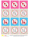 Printable Valentines Day XOXO Gift Tags & Cupcake Toppers, Printable LOVE Gift Tags & Cupcake Toppers by SUNSHINETULIPDESIGN - Sunshinetulipdesign