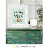 Printable Oh Hey Spring Art, Wall Sign, Planner Cover by SUNSHINETULIPDESIGN - Sunshinetulipdesign - 2