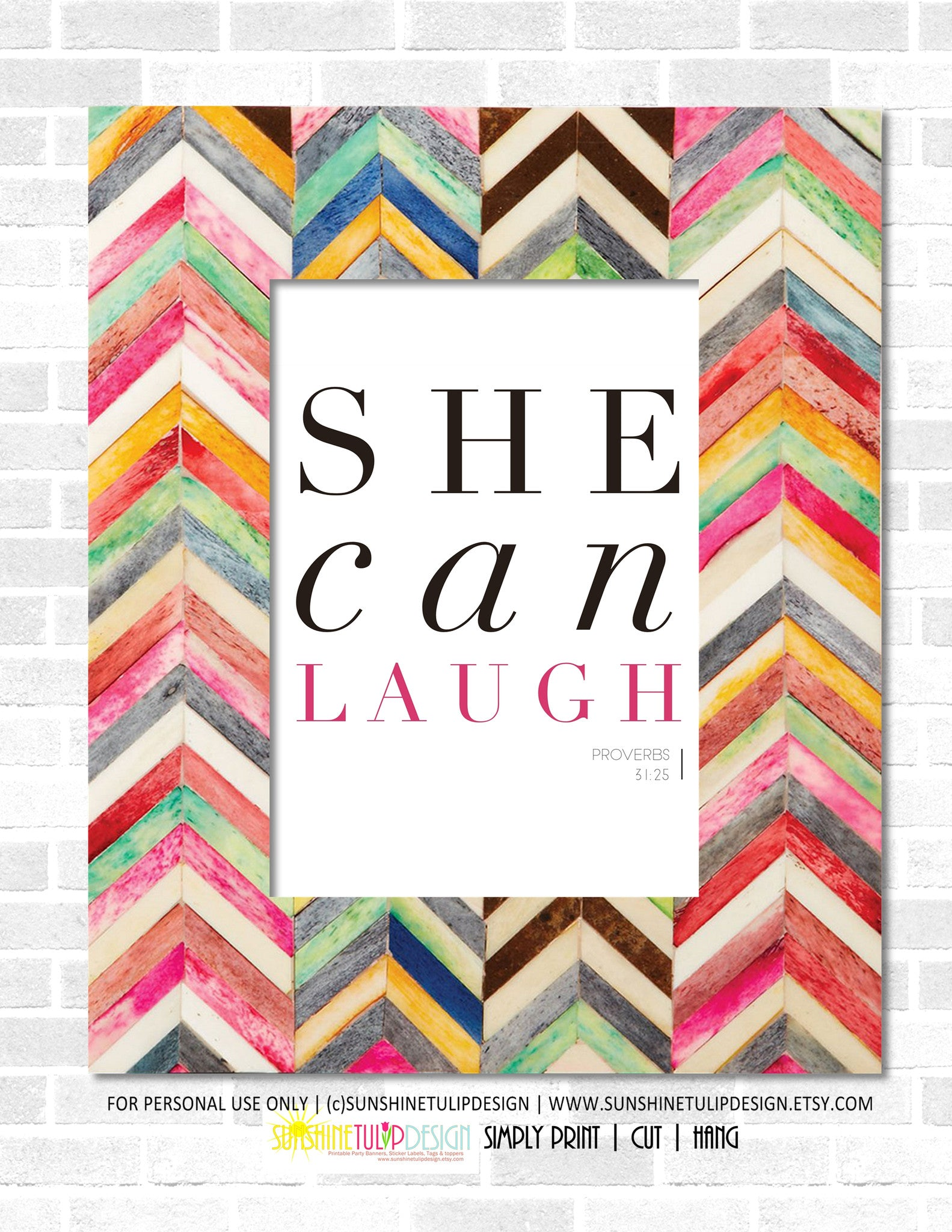 image relating to Planner Cover Printable identified as Printable She Can Chuckle Wall Artwork, Proverbs 31, Scripture Wall Artwork, Planner Include Artwork through SUNSHINETULIPDESIGN