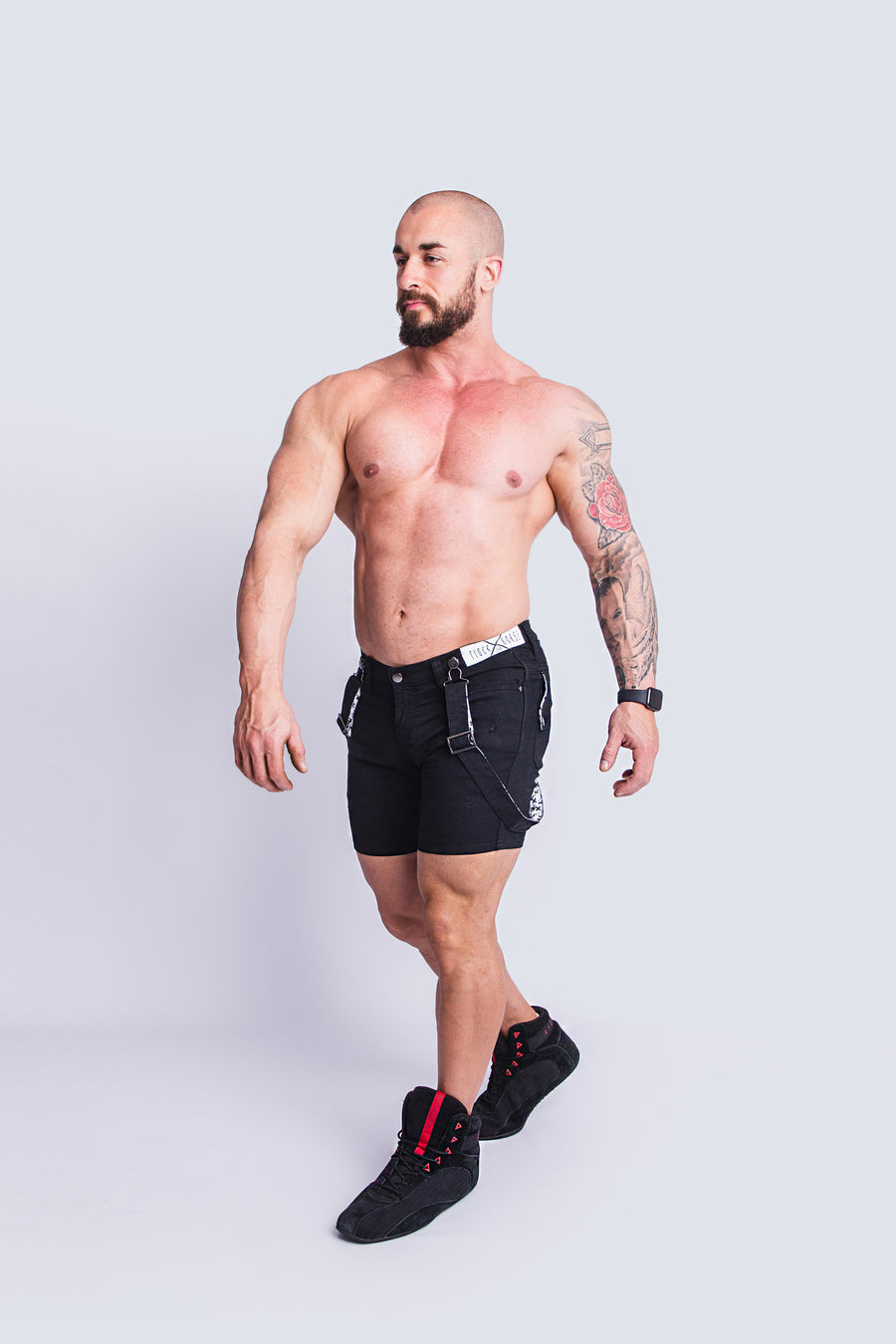 ROMEY DOUBLE BLACK X-STRETCH SHORT
