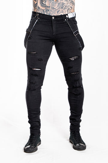 ROYCE PHUCKED-UP BLACK SUPER X-STRETCH JEAN