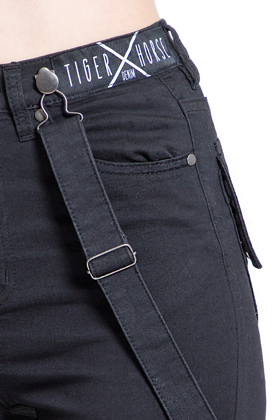 ALLY High-Waist Black Stretch Jean
