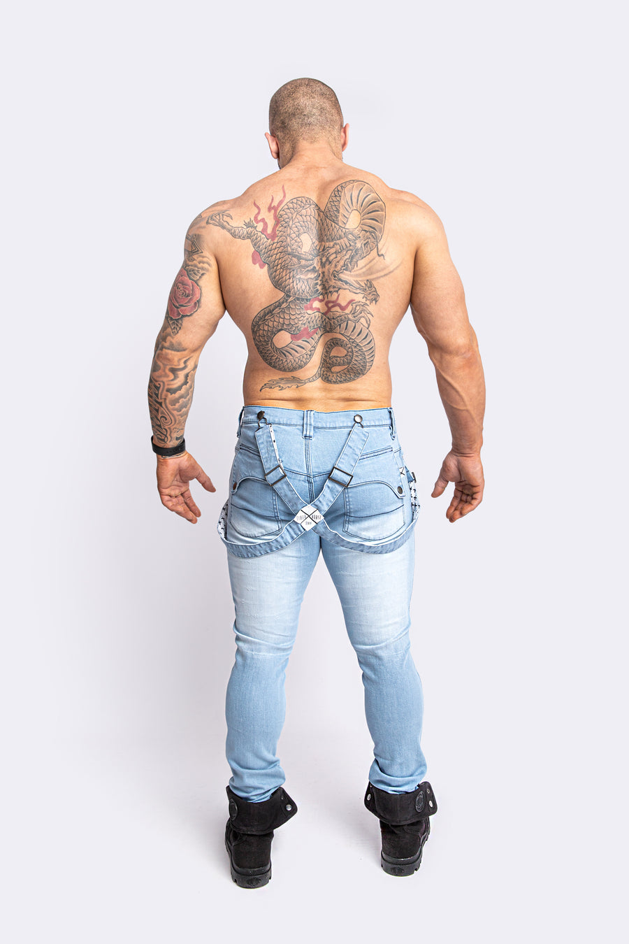 EDDIE STONE-WASH SLIM STRETCH JEAN
