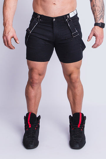 ROMEY DOUBLE BLACK SUPER STRETCH SHORT