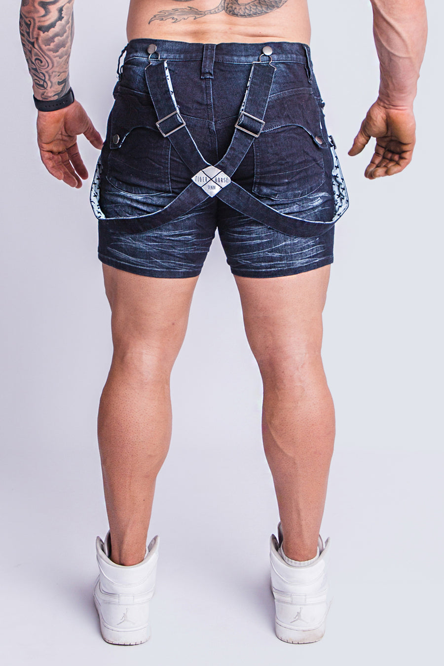 ROMEY DARK BRUSHED DENIM SHORT