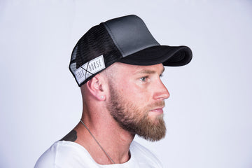 TRUCKER HAT Grey & Black