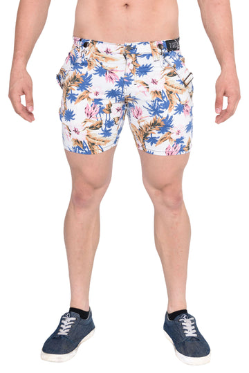 Taj White Hawaiian Short