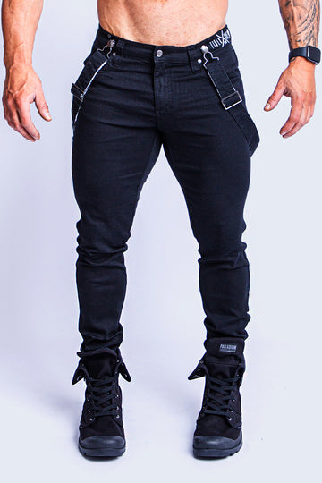 ROMEY DOUBLE BLACK NO-RIPS X-STRETCH JEAN