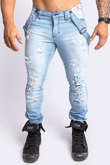 EDDIE Stone-Wash Ripped Slim Jean