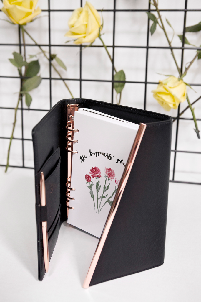 Leather Binder | Black | 2019 inserts - The Happiness Planner®