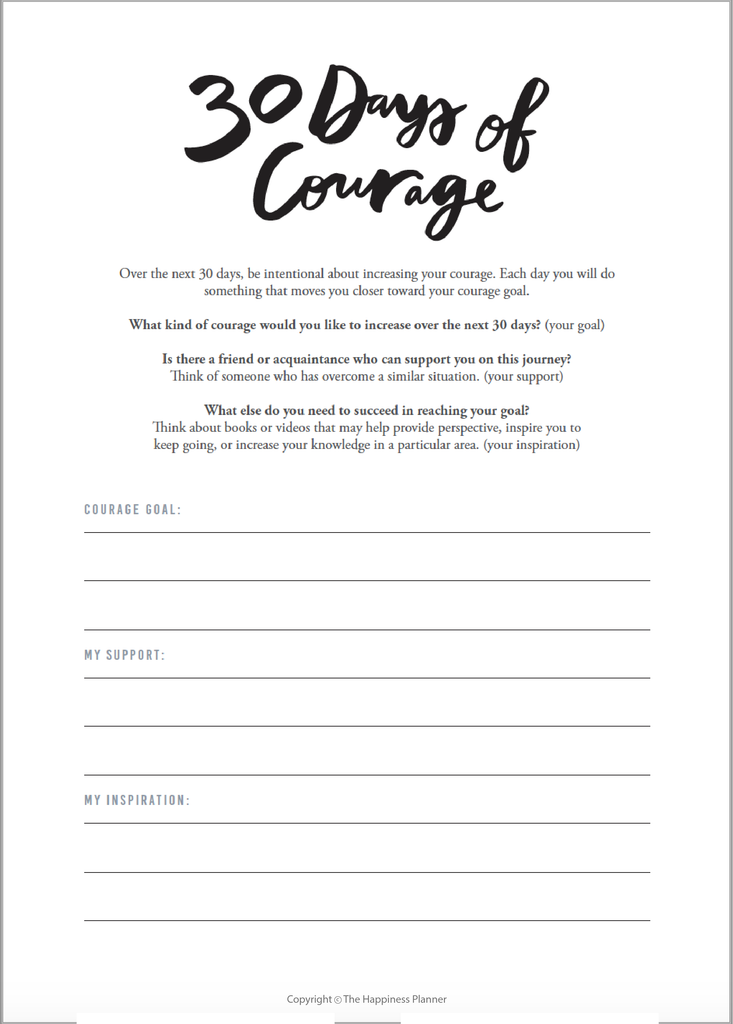 Explore Your Inner World | Courage Journal