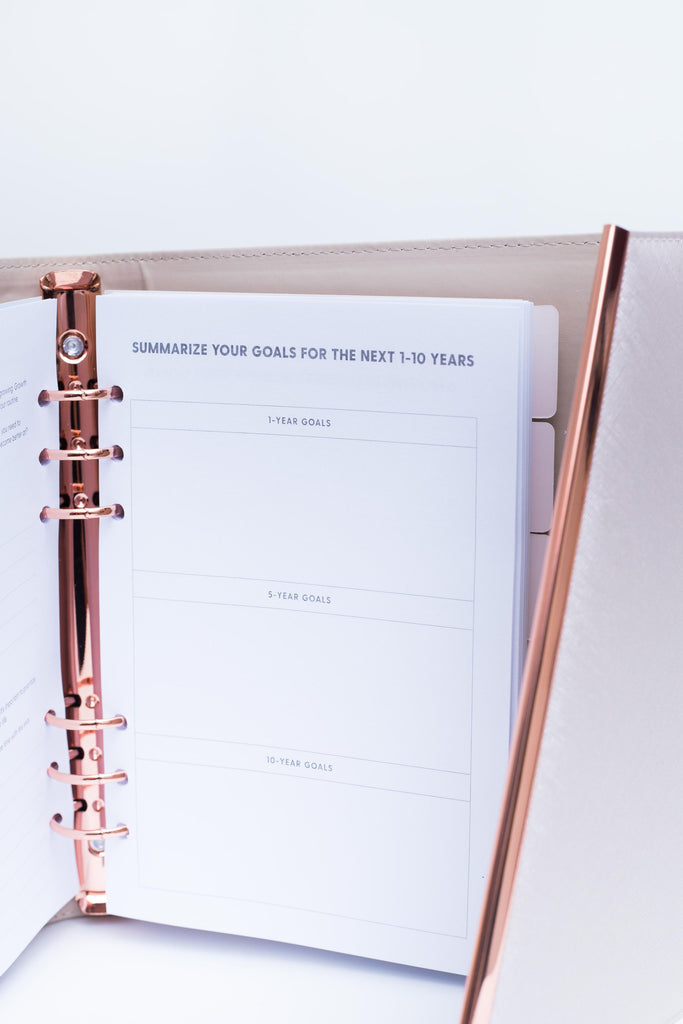 Leather Binder 2020 | Rose Gold