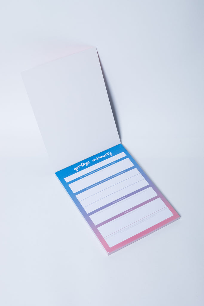 """Goodbye Insecurity"" Notepad - The Happiness Planner®"