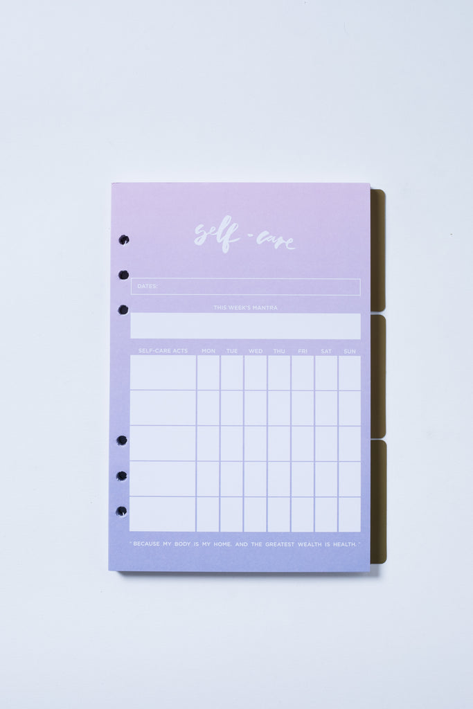 """Self-Care"" Inserts - The Happiness Planner®"