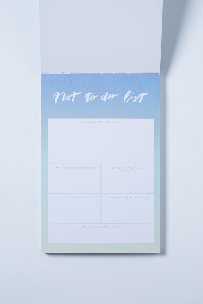 """Not To-Do List"" Notepad - The Happiness Planner®"