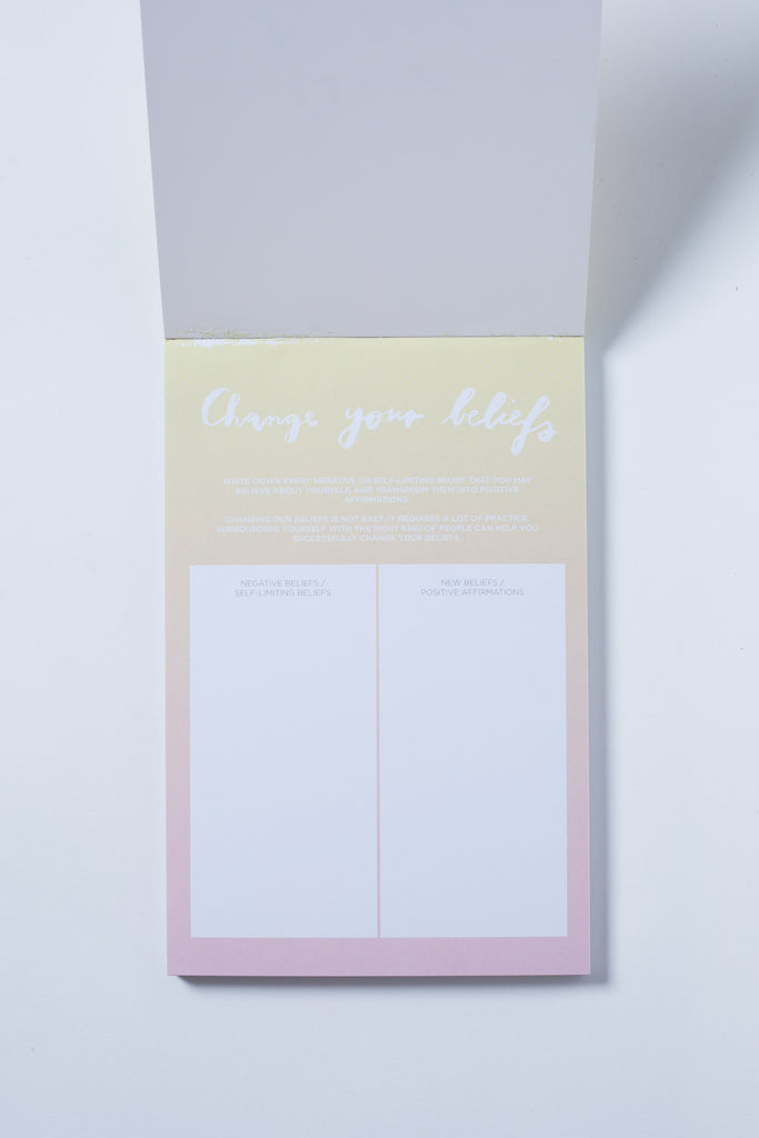 """Change Your Beliefs"" Notepad - The Happiness Planner®"