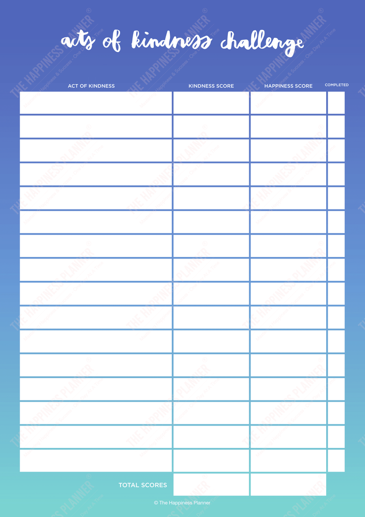 Premium Printables: #Kindness - The Happiness Planner®